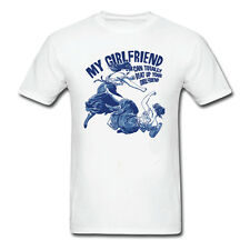 New Cheap Graphic Tee White T-shirt My Girlfriend can beat up yours