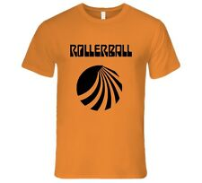 Rollerball Sci-Fi Cult Classic Movie 1975 T-Shirt James Caan Orange Men's Fitted