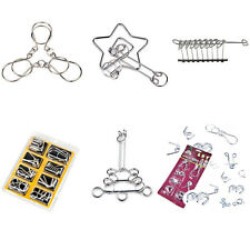 1 Set Metal Crafts Chinese Ring Puzzle IQ Brain Teaser Kid Adult Educational Toy