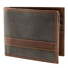 Timberland Waxed Canvas Leather Hunter Passcase Wallet - You Choose Color - NEW!
