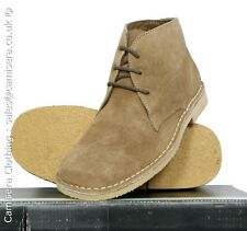 Roamers 3 eyelet Real Suede Leather Mens Desert Boots Sand 6 7 8 9 10 11 12 13