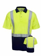 Polo Shirt Hi Vis Short Sleeve Cotton Lined Reflective Tape HV4020