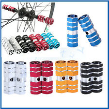 """1 Pair Cycling BMX Bike Bicycle Cylinder 3/8"""" Axle Foot Pegs Aluminum Alloy Vary"""