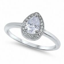 Halo Wedding Engagement Ring 925 Sterling Silver 1.20CT Russian CZ White Topaz