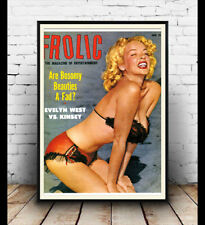 Frolic : Reproduction Pulp magazine cover, poster, Wall art.