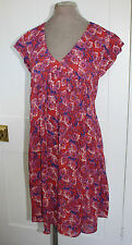 SALE!!! Crew Clothing pink purple floral summer tunic dress 8 10 rrp £95