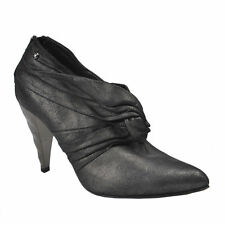 Just Cavalli Suede Gray Pointy Toe Zip Up Ankle Boots Shoes Size 6.5  7  7.5  8