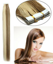 16''-24'' 100% Remy Human Hair Seamless Tape In Extensions Ombre T Color 12/613