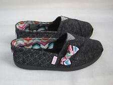 New! Girls Skechers Bobs World-Quilted Cuties Shoes Style 85177L Black  40D