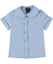 French Toast Back to School Round Collar Peter Pan Lt.Blue Blouse Size 4-20 NWT