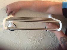 Suction Cup Double Rod Towel Rack Bar Shelf StainlessSteel Bathroom No drilling