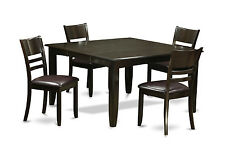 5 Piece dining table set-Dinette table with Leaf and 4 Dinette chairs.