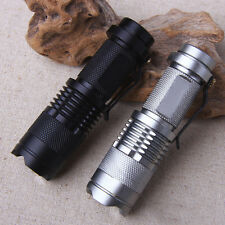 Focus Zoomable CREE Q5 LED Flashlight Torch Lamp Outdoor 3-Mode Bright Light