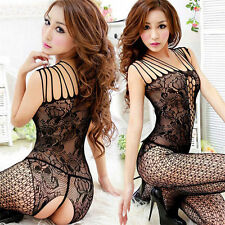 Woman Sexy Open Crotch Mesh Fishnet Bodystocking Stocking Net Lingerie Underwear