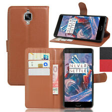 PU Leather Flip Folio Card Slot Wallet Skin Stand Case Cover For Oneplus 3 / 3T