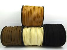 1M -5M Faux SUEDE 3mm FLAT CORD for DIY Bracelet Necklace ~Black/ Brown/ Natural