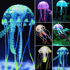 Blue Jellyfish Aquarium Decoration Artificial Glowing Effect Fish Tank Ornament
