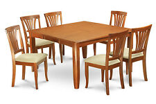 7 PC Dining Set-Dinette table with Leaf and 6 Dinette Chairs.