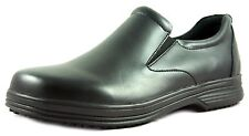 Townforst Mens Slip Resistant Work Leather Shoe Black Fashion Non Slip