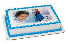 Frozen Elsa edible image your photo custom frosting cake topper icing #18249