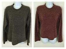 COLUMBIA Womens Burgundy Red Popcorn Knit Pullover Rolled Collar SWEATER M
