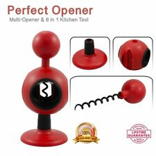 Can Opener Wine Opener Jar Lid Opener 8-in-1 Home Kitchen Tool Sets NEW AUSSIE