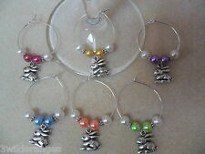 Easter Wine Glass Charms / Napkin Rings Set of 6 8 10 or 12 Rabbit