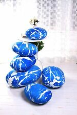 A set blue pebble hillstone pillow/pillowcases rock cushion/cushion covers