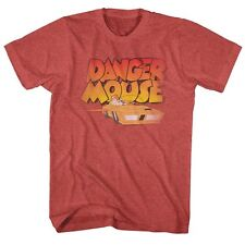Danger Mouse T-Shirt Flying Car Red Heather T-Shirt
