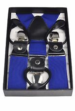 Fashion Formal Blue Strong Button On Braces Presentation Boxed
