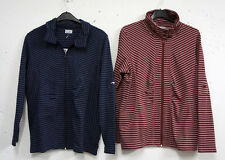 great Ladies Long Sleeve Shirt Jacket DarkBlue or red striped Size 40/42,44/46