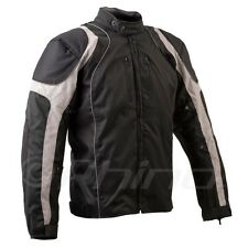 Motorcycle Textile Cordura Jacket Vents and Removable Armour Waterproof Grey/Bla