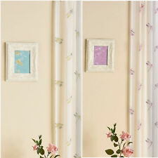 Voile Net Curtain Panel Dragonfly Slot Top Rod Pocket Voile Panel Duckegg Purple