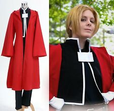 FullMetal Alchemist Edward Elric Coat Pants Outfit Cosplay Costume Halloween