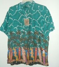 new SURFBOARDS & PALMS HAWAIIAN SHIRT size L or XL  by PRESENCE