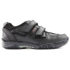 HUSH PUPPIES BOYS AXEL BLACK LEATHER SCHOOL SHOES