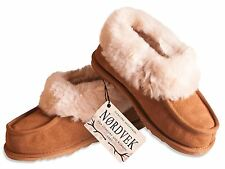 Nordvek Ladies Genuine Sheepskin Slippers Boots Hard Rubber Sole Womens 404-100