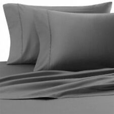 Scala Bedding 1000-TC 100%Cotton Flat Sheet Elephant Gray Solid Choose Item Size