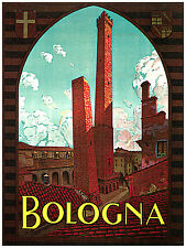 1079 Bologna Italy Travel wall Art Decor POSTER.Graphics to decorate home office