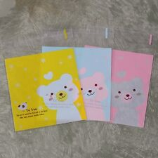 Plastic Resealable Bags Lovely Bear Self-Adhesive About 100pcs