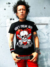 Harajuku JAPAN Visual kei T-Shirts MAD DOG ROCKERS Punk Rock Heart Skull F/S