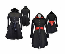Darkstar By Jordash Hooded Jersey Fleece Black Gothic Jacket Coat S/M