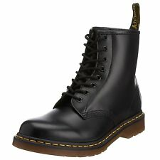 New Dr Martens docs Mens BLACK smooth leather 8up boots 8 hole 8EYE 8 EYE 1460