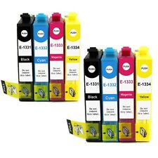 8x INK Cartridges T1331-4 T133 for Epson NX125 NX130 Workforce 320 325 Printer