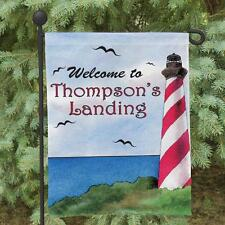 Personalized Lighthouse Garden Flag Family Name Welcome Flag Lighthouse Decor