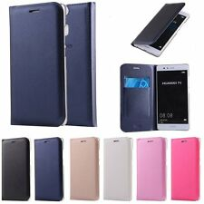 Luxury Leather Wallet Card Slot Case Filp Cover For Huawei Ascend P9/P9 Lite