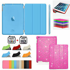 Smart Leather Magnetic Stand + Hard Back Cover FOR APPLE iPad 4/3/2 Air Mini Pro