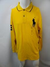 New Polo Ralph Lauren Men's Big & Tall Polo Shirt 3 Big Pony Yellow 100% Cotton