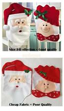 Mr & Mrs Santa Claus Hat Kitchen Dinner Chair Cover Seat Christmas Decoration