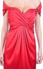 MSRP $2,295 MOSCHINO COUTURE x Jeremy Scott JS 100% Silk Red Bow Gown Dress